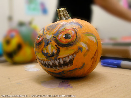 Painted Pumpkin by Brian Kolm