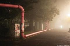 4:22 am (Norte_it [Dario J Laganà]) Tags: light berlin fog germany deutschland licht pipes nebbia luce germania berlino tubi