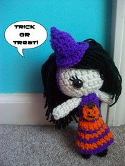 Pumpkin Halloween Witch (Mooy) Tags: cute halloween toy doll handmade witch crochet plush kawaii amigurumi