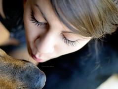 the kiss (Laurarama) Tags: nov portrait dog pet kiss child gap triangular odc nikond7000 nikkor50mm18g gapnov