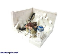 Han and Leia Turning Back From The Blocked Hallway (Masked Builder) Tags: starwars back lego empire strikes hoth moc vig