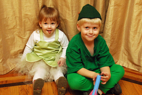Peter Pan and Tinkerbelle