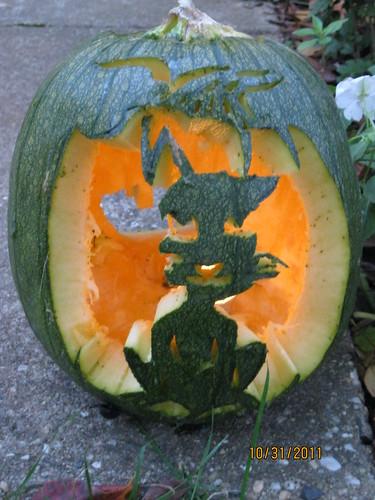 2011 Halloween: Katherine pumpkin