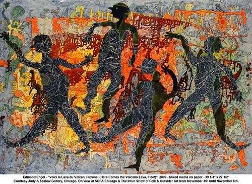 "Edmond Engel - ""Voici la Lava du Volcan, Fuyons! (Here Comes the Volcano Lava, Flee!)"", 2009 by artimageslibrary"