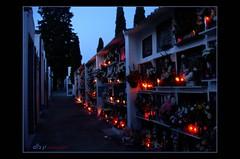 Dia de todos los Santos en Nueva Carteya (Córdoba) (Alberto Jiménez Rey) Tags: albjr albjr7 alberto jimenez rey cemetery cementerio velas candles luces lights santos nueva carteya cordoba noche night