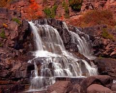 Gooseberry Falls (rexp2) Tags: statepark waterfall greatlakes lakesuperior nikonf5 colorneg vuescan nikoncoolscan5000ed kodakektar100 nikkorafs28300mmf3556gedvr vacation2011upperlakes