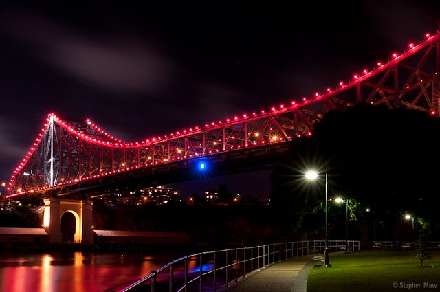 The 2011 BCA Campaign Illumination of Storey Bridge in Queensland, Australia