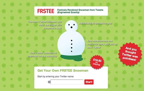 FRSTEE the Twitter Snowman