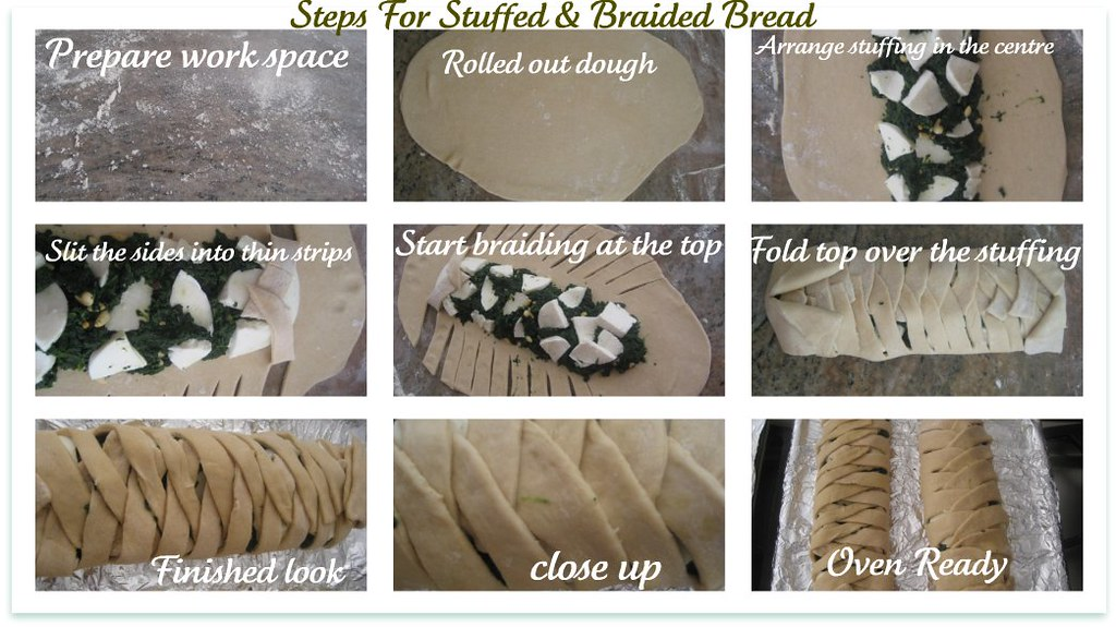 Braided bread collage
