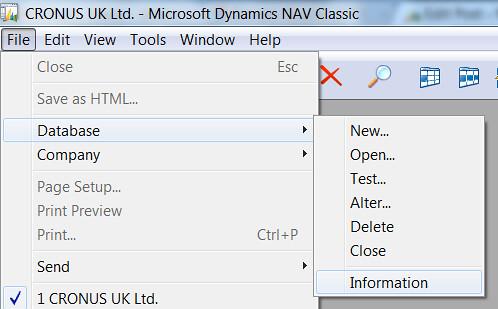 Company Size - File Database Information
