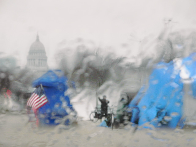 Rainy Day at Occupy Madison