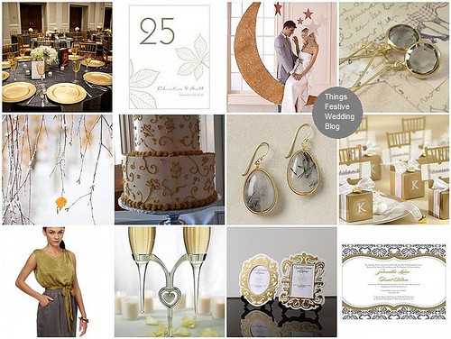 Gold and Grey Fall Wedding Theme | Things Festive Weddings & Events