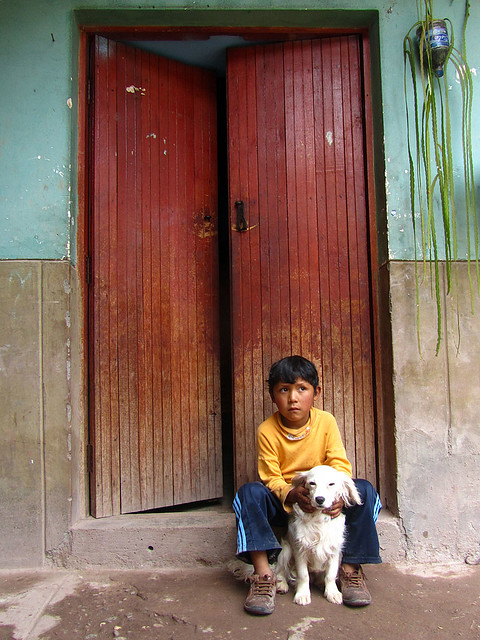 A Boy and his dog (Urubamba)