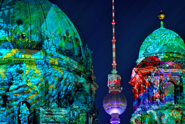 Berlin Cathedral / TV Tower, Festival of Lights, 2011