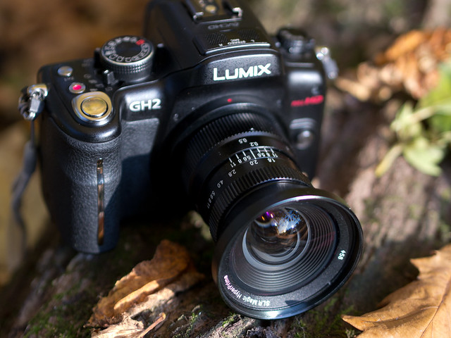 HyperPrime 12/1.6 attached to the Lumix GH2