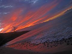 wake up (bluewavechris) Tags: ocean morning sea sky sun mountain color beach water rock clouds sunrise island hawaii lava maui foam