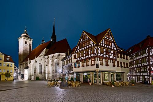 Marktplatz und Stadtkirche Schmalkalden