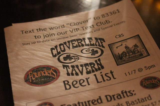 6324382022 e4d5f517d4 z CBS Taps Out In 8 Minutes At Cloverleaf Tavern