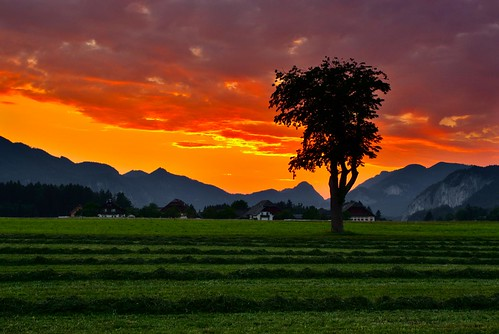Sunset. Austria.