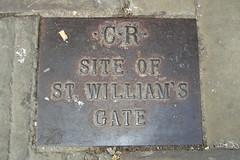 Photo of St. William's Gate bronze plaque