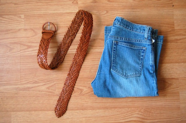 belt and jeans