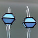 Earring pair : Crystal edge (skyblue)