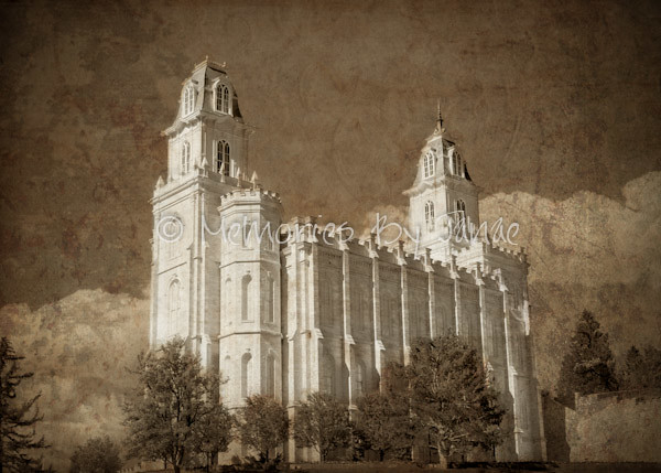 Manti Vintage LDS Temple Prints -2-4