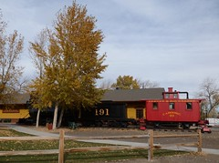 Outdoor Museum (Patricia Henschen) Tags: bench caboose depot steamengine drg goldenco coloradorailroadmuseum drgw