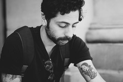 (The Bearded) Tags: portrait male tattoo beard 50mm candid 14d