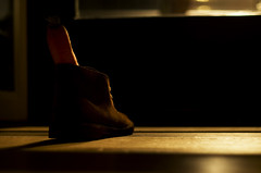 Me, my Clarks and I, it's gonna be a long, long night; day 22/365 (David vDartel) Tags: sinterklaas boot shoes desert boots schoenen clars clarksoriginals clarksdesertboots