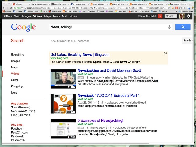5 Examples of newsjacking! - Google Video Search