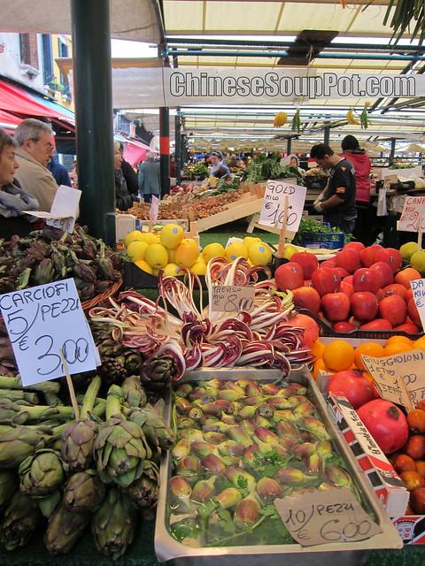 [photo-fresh artichokes at venice's produce market]