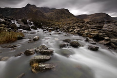 A view of Cwm Idwal and Y Garn, North Wales (Adam BStar) Tags: autumn white water kitchen wales canon river waterfall stream long exposure slow 10 devils tripod north bangor sigma du filter 7d nd shutter snowdon mm 20 1020mm grad hitech cwm tryfan llyn idwal gradual geifr clogwyn twll nd8