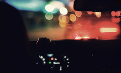 """I like the peace (jimmay bones) Tags: car drive nikon driving bokeh grain fm2"