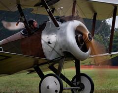 Skywards (buddythunder) Tags: hub scarf plane vintage airplane aircraft aviation wwi camel spinning ww1 propeller pilot sopwith biplane laminate cowling flickraward