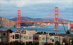 Golden Gate Compression (LifeLover4) Tags: sf sanfrancisco california sunset usa canon football stock icon highschool telephoto goldengatebridge marinheadlands ftpoint ggnra richmonddistrict ggb ef70300mmf456isusm 550d ftbaker gwhs t2i lifelover4 stickneydesign ggb75