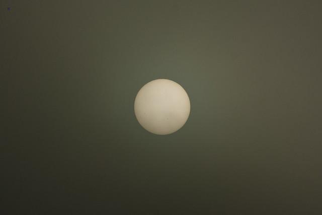 sun through fog