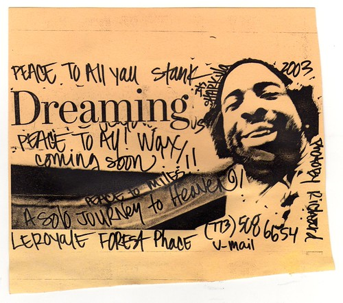Dreaming ~ Sharkula/Thig flier (fotoflow / Oscar Arriola) Tags: 2003 old usa chicago america vintage us illinois flyer midwest brian united il mc american hiphop states rapper sharkula thig flier photocopied
