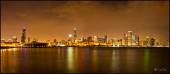 Chicago Skyline (dhtuan) Tags: city panorama chicago architecture buildings lights downtown nightshot architectural nightshoot lakeshore trumptower wrigleybuilding wrigley lakefront chicagoskyline alderplanetarium searswillistower