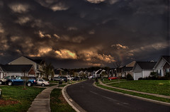 """March 24, 2012 """"Crazy  Clouds"""" (hoovdaddy) Tags: canon20d northcarolina hdr stormclouds indiantrail photomatix unioncountync topazdenoise march2012 brycehoover springspringstorms unioncountystorm 3clixpix"""