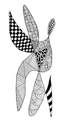 Zentangle #47 - Something borrowed (hilda_r) Tags: blackandwhite art pen ink pattern drawing doodle inkdrawing inkart doodleart zentangle zentangles