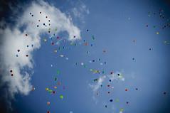 Balloons (A. Aleksandraviius) Tags: blue sky colors 35mm balloons nikon nikkor d90 nikkor35mm nikond90 f18g 35mmf18g afsdxnikkor35mmf18g nikon35mm18g