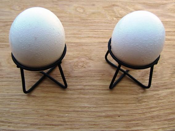 プラスマイナスゼロ エッグスタンドに卵