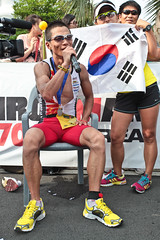 2011 Iron Man Korea Jeju International Triathlon (DMac 5D Mark II) Tags: summer beach asian asia july ironman international southkorea jeju triathlon  naver   daum      2011      jungmun seogwipo       7 hwasun                 daejeongeup  3          katebevilaqua  TGAM:photodesk=red       yeunsikham balazscsoke