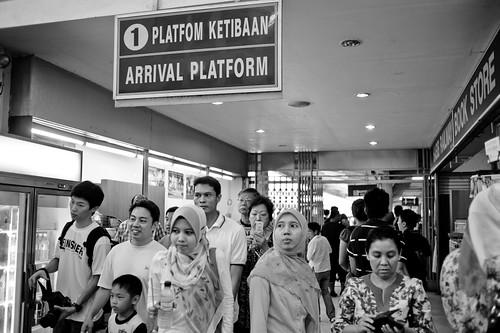 Arrival Platform at Tanjong Pagar KTM Railway station