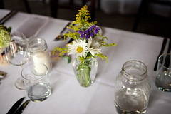 Ingrid & Andrew (Julie Lavelle) Tags: flowers wedding light food toronto detail brick canon table glasses couple natural wine marriage naturallight works vase bouquet placesetting 2470mm donmills canoneos5dmarkii evergreenbrickworks ingridandandrew