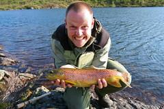 Trout - 1,1 kg (mortenklevis) Tags: summer fish water norway outdoors norge fishing wilderness trout rret setesdal srnorge kleveland mortenkleveland