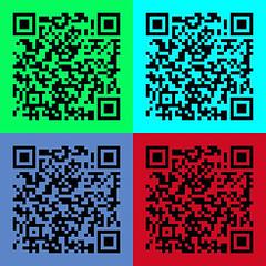 QR Code Art  ([ pm ]) Tags: copyright colour art matrix mobile digital marketing code reader scanner popart generator 600v warhol nytimes custom pm craze qr 500v qrcode codeart 700v 5f 1000v 400v 900v 800v scoopit paulmarsh qrreader qrcodeart qrcodeartgallery qrcodeasart dynamicqrcodes