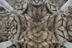 floating above the earth (claude05) Tags: pillar stmichael schwbischhall lategothic cy2 challengeyouwinner netzgewlbe reticulatedvaulting netvaulting