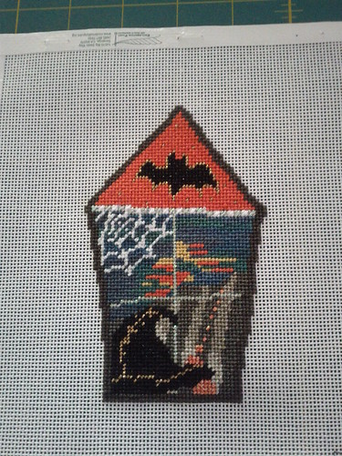 spooky house needlepoint